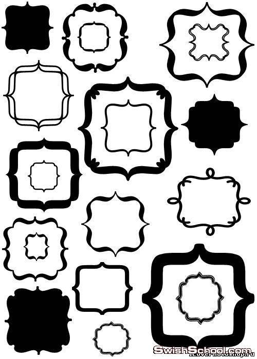 أشكال اطارات براويزمقوسه
