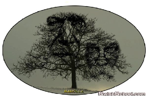 درس دمج وجوه على الشجرة..درس فوتوشوب