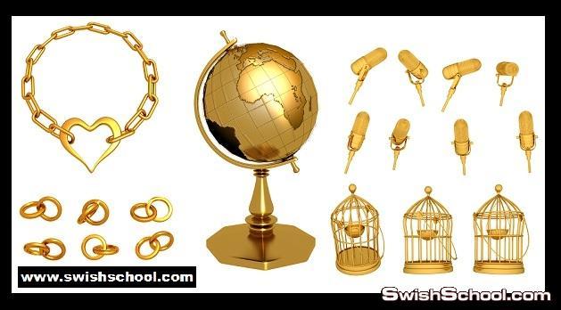 منوعات ذهبيه خفيفه   Golden things psd
