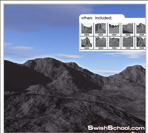 فرش جبال , فرش طبيعه , فرش لعمل جبال , رسم جبال بالفوتوشوب