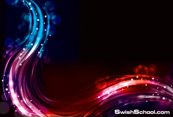 خلفيات انوار النيون  Neon lights - clipart