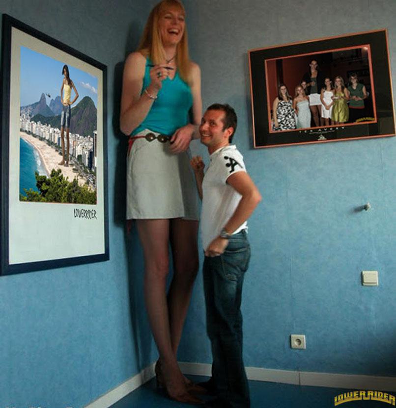 بالصور اطول النساء في العالم