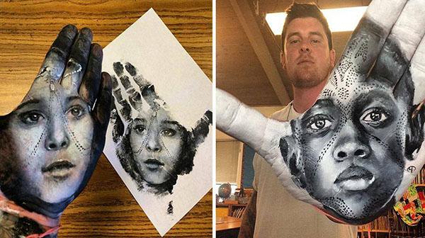 صور رسومات احترافيه مذهله على كف اليد