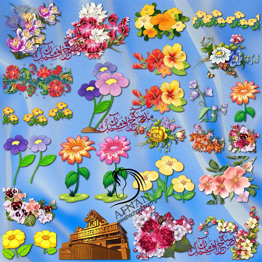 سكرابز زهور عاليه الجوده لتزين التصاميم png