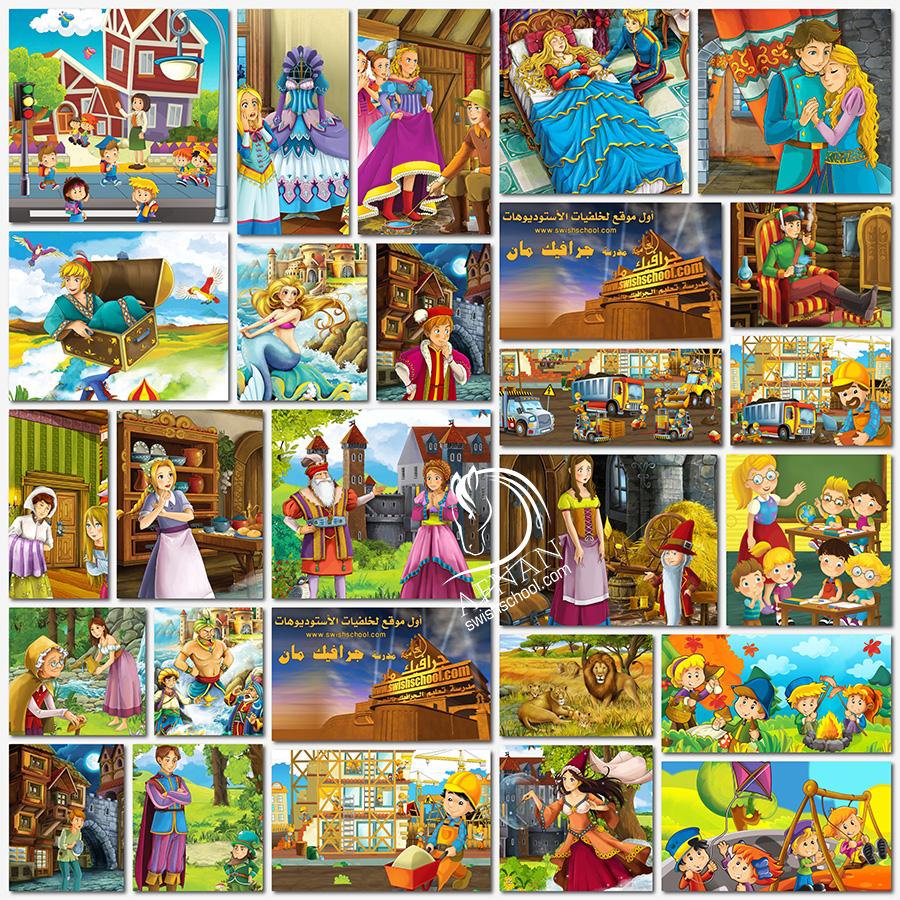خلفيات حواديت وقصص الاطفال jpg - خلفيات كارتون عاليه الجوده للتصميم