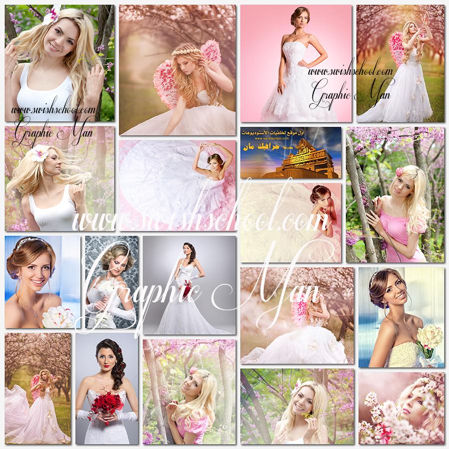 صور بنات عرايس عاليه الجوده للتصميم -  صور عروسه بفستان الفرح jpg