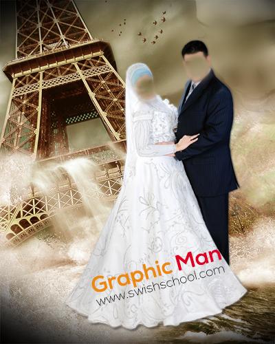 خلفيات الزفاف psd ليرات و تركيب عرايس - طبقات الدفعه الثانيه