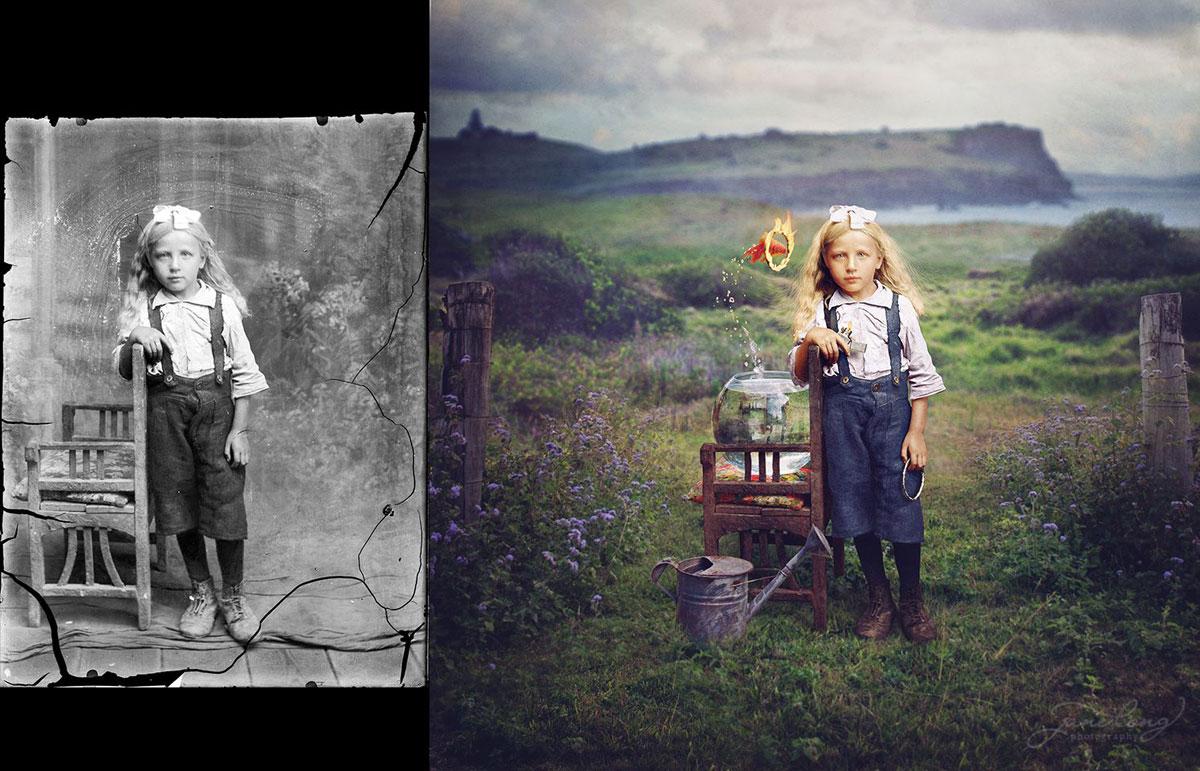 افكار ابداعيه في تلوين الصور القديمه