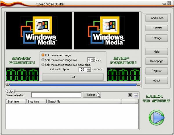 اسرع برنامج لتقطيع الفيديو Speed Video Splitter V 4.3.24