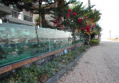 رجل أعمال تركي استبدل سور بيته بحوض سمك