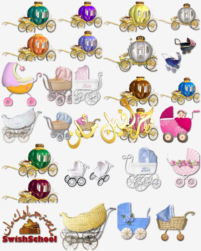 سكرابز عربات اطفال بيبي باشكال جميله png