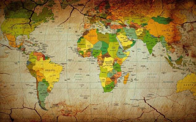 خريطة العالم بجوده عاليه لمدرسين الجغرافيه - world map