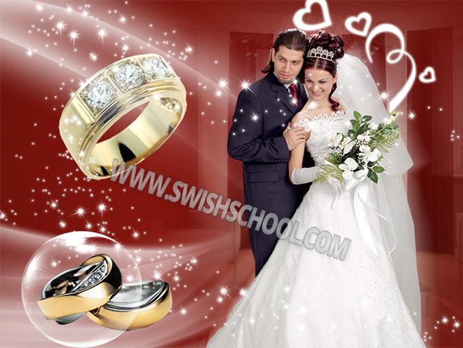 خلفية زفاف رومانسية باللون الاحمرpsd -تحميل خلفية استوديو زفاف وافراح جديدة من تصميم هاجر2016