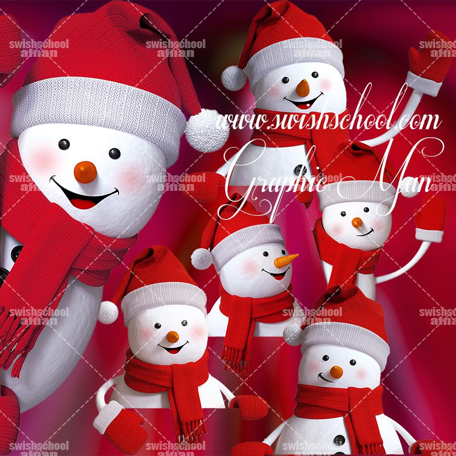 كليب ارت Frosty The Snowman لتصاميم العام الجديد psd