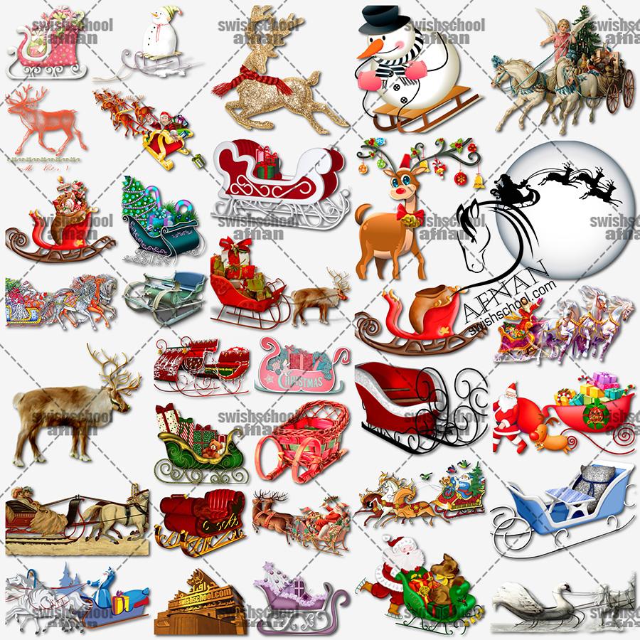 تحميل مرفقات فوتوشوب كريسماس العام الجديد png