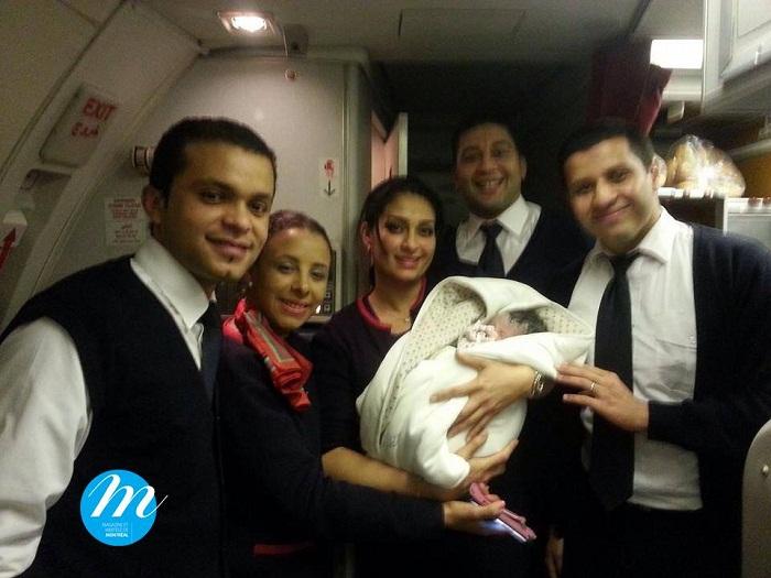 ما هي جنسية المولود الذي يولد في الطائرة ؟