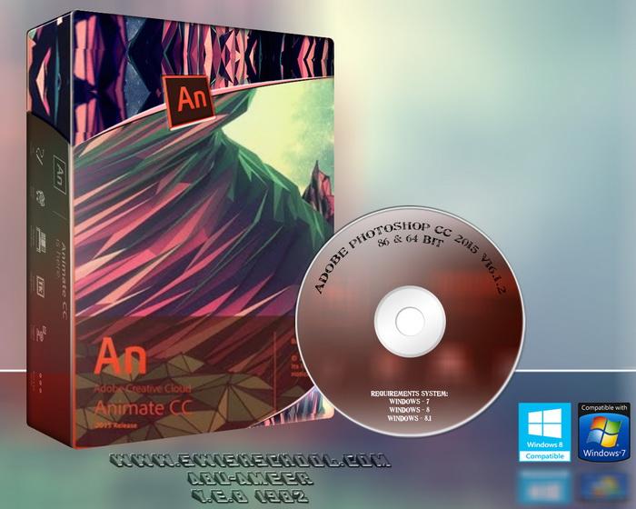 برنامج Adobe Animate CC 2015.1.1, برنامج الانيميشن من ادوبي, برنامج لإنشاء الرسوم المتحركة, برنامج ادوبي فلاش