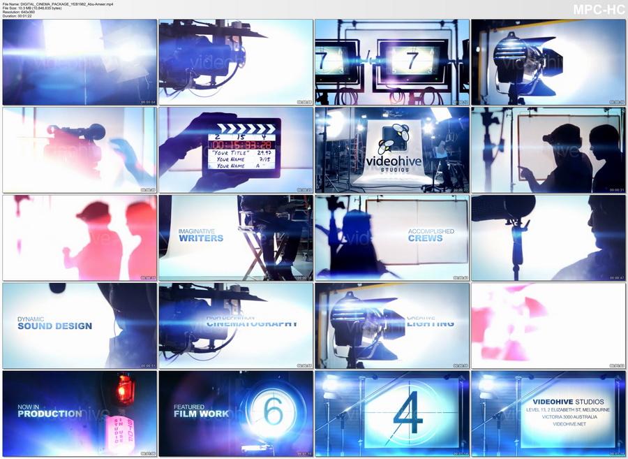 قوالب فيديو مؤثرات السينما, تأثيرات اضواء سينمائية, تأثيرات بروفا