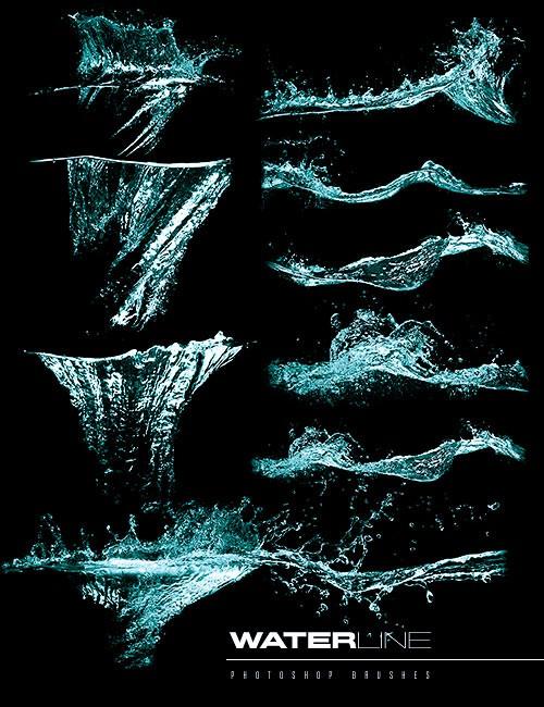 تجميعة فرش فوتوشوب اشكال الماء, فرش فوتوشوب سطح البحر, فرش فوتوشوب فرقعات الماء, فرش البحر