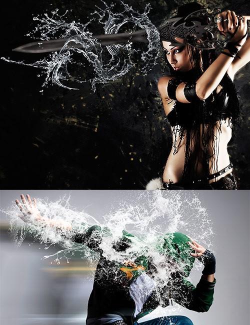 فرش انفجار الماء, فرش طرطشة ماء, فرش فوتوشوب انفجار الماء, فرش رش الماء