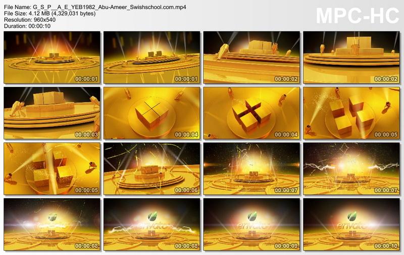 قالب افتر افيكتس مسرح ذهبي, قالب فيديو عرض مسرح ذهبي
