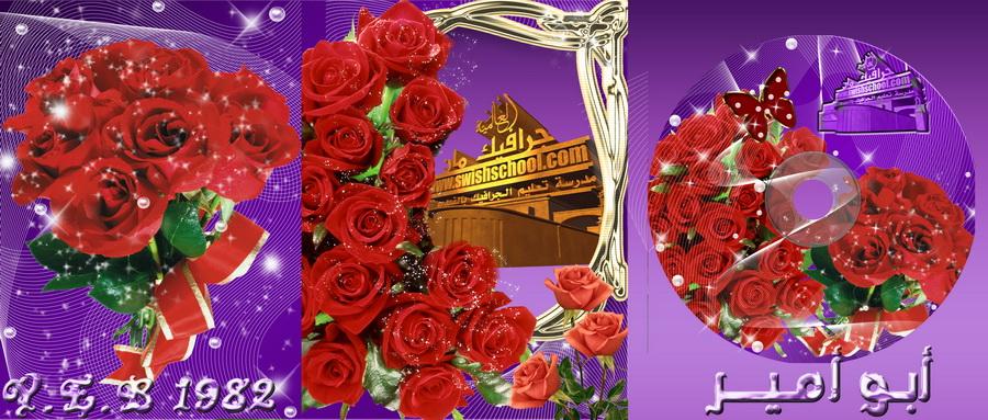 خلفيات استديو غلاف لمناسبات الزواج باللون البنفسجي مع ورود حمراء