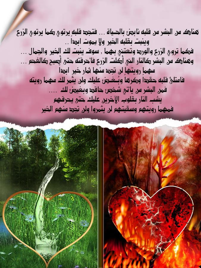 قلوب نابضة بالحياة و قلوب محترقة من البغض