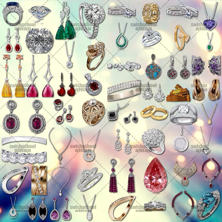 سكرابز مجوهرات منوعه لتصاميم الفوتوشوب png