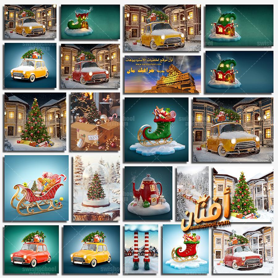 خلفيات كريسماس خياليه عاليه الجوده لتصاميم الفوتوشوب jpg