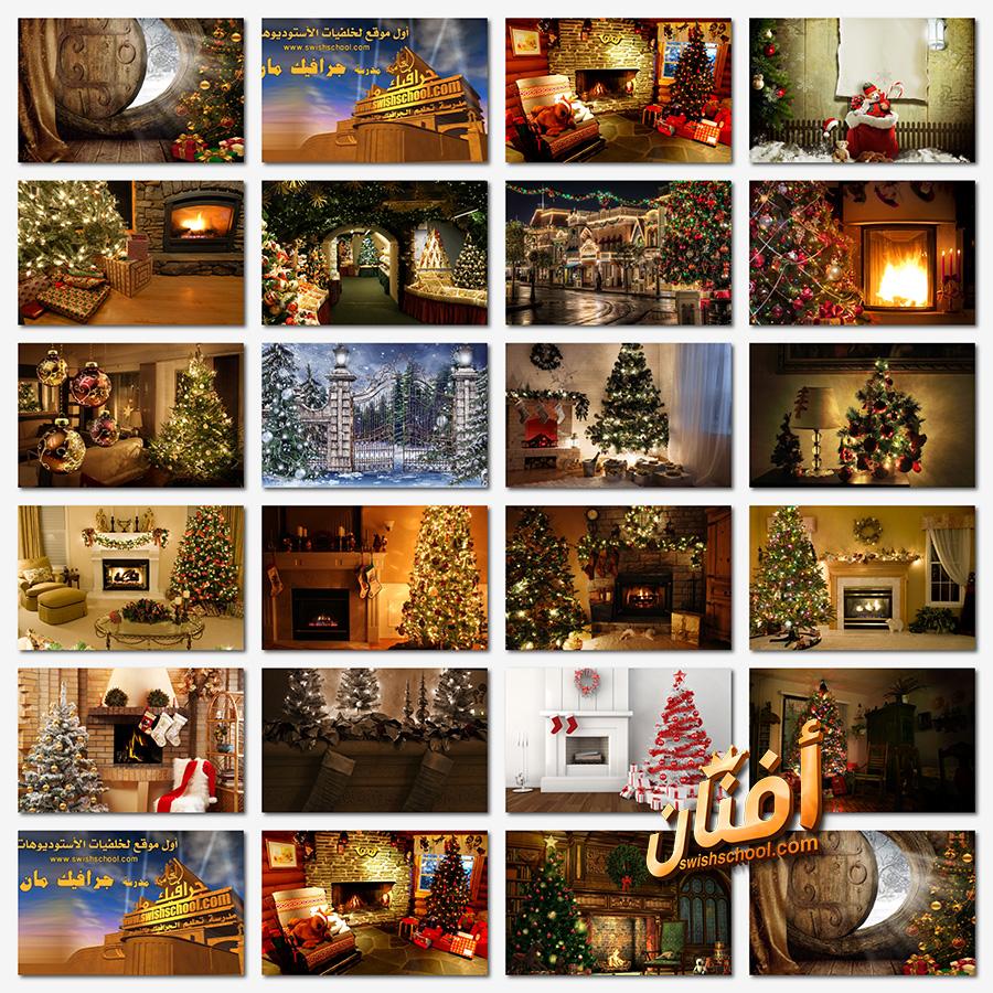 خلفيات انتريهات كريسماس كلاسك عاليه الجوده لتصاميم العام الجديد jpg