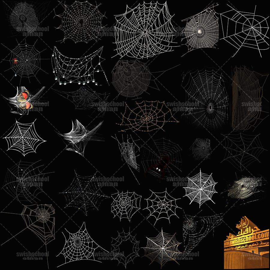 صور بيت العنكبوت مفرغه png - سكرابز بيوت العنكبوت لتصاميم الفوتوشوب