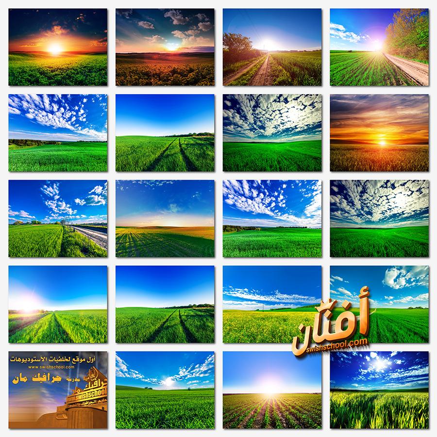 خلفيات طبيعه حقول خضراء عاليه الدقه لتصاميم الفوتوشوب jpg