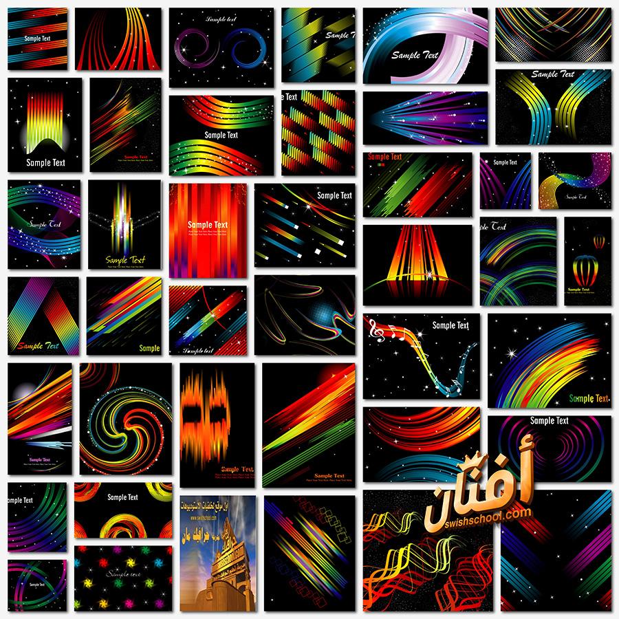 خلفيات فيكتور خطوط وتموجات تجريديه eps - فيكتور ابداعي لتصاميم الجرافيك