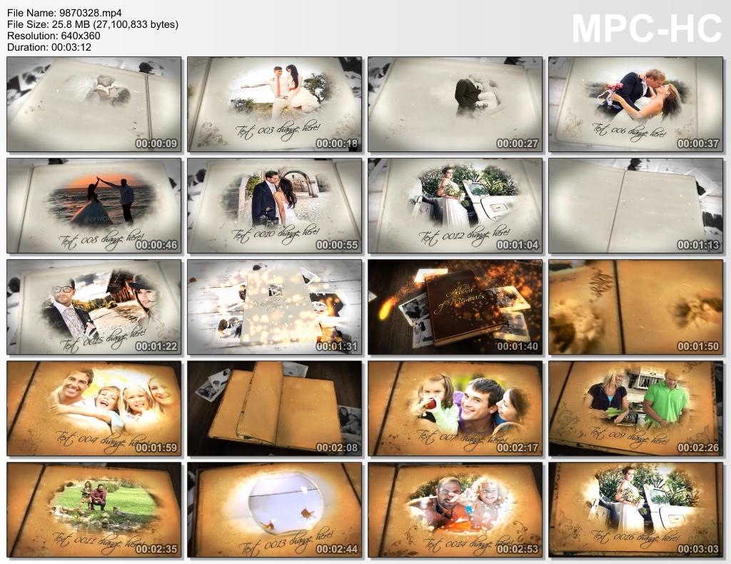 مشروع افتر افيكتس البوم صور ذكريات جميلة, مشروع افتر افيكتس البوم صور زواج, مشروع افتر افيكتس كتالوج البوم