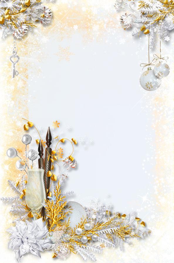 فريم دهبى رائع للكريسماس والسنة الجديدة عالى الجودة لاصحاب الاستوديوهات مدرسة جرافيك مان