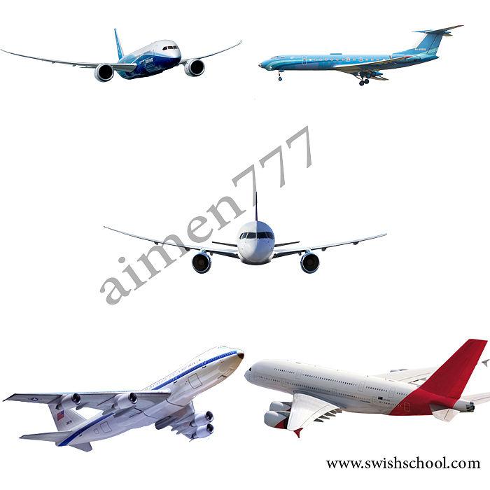 صور طائرات سفر بمختلف الاحجام وبجودة عالية بخلفية شفافة