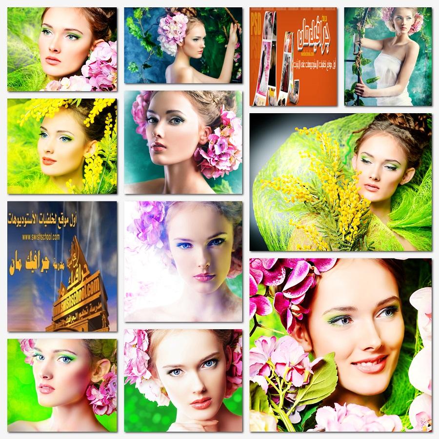 ستوك فوتو بنات الورد عاليه الجوده لتصاميم التواقيع الرومانسيه