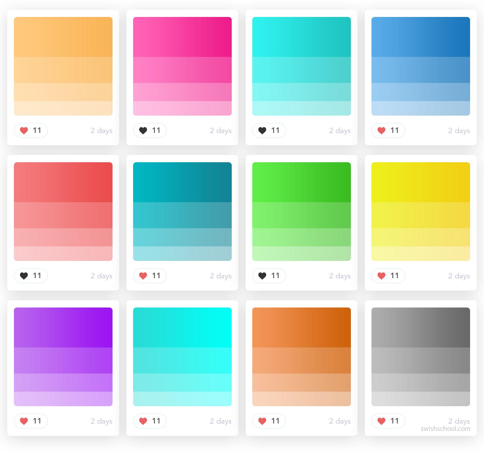 بالتة الوان جاهزه للفوتوشوب Gradient Palettes For Photoshop