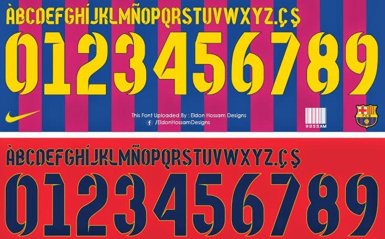 خط فريق برشلونة Barcelona Font