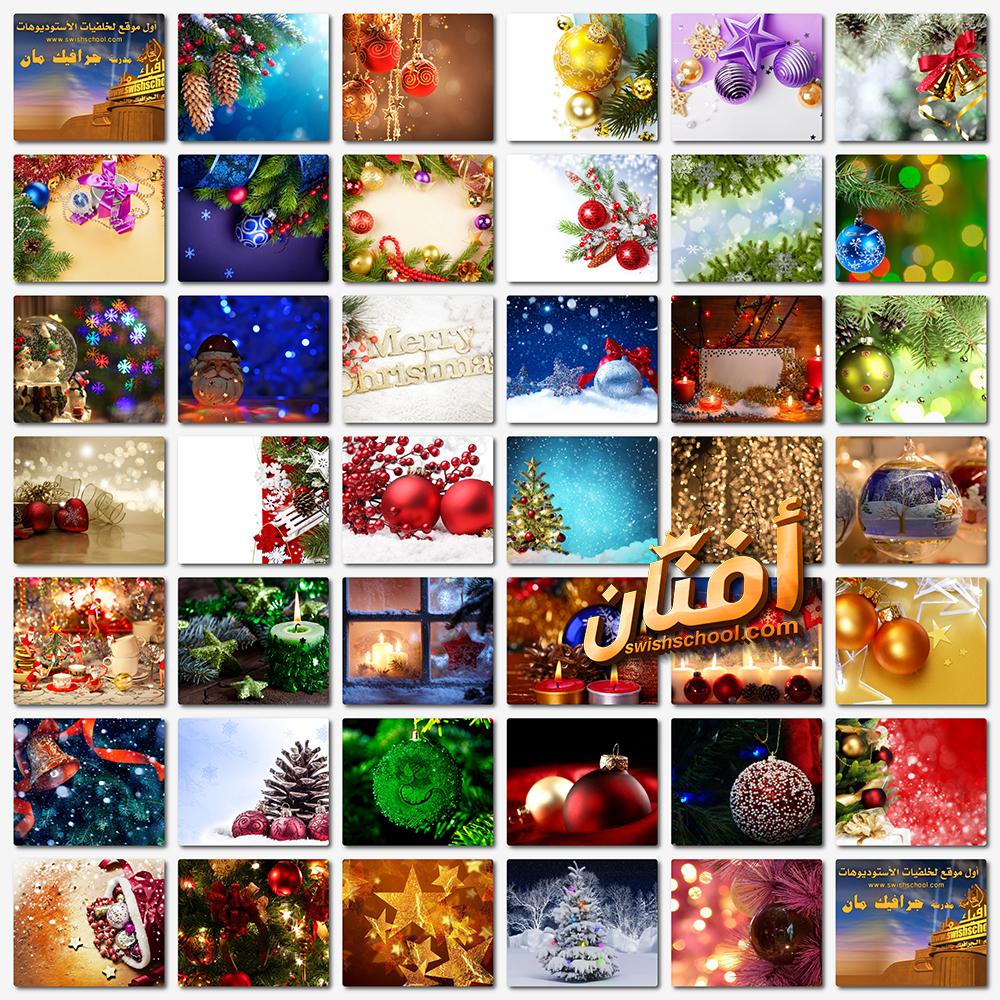 خلفيات فوتوشوب كريسماس العام الجديد عاليه الجوده للدذاين jpg