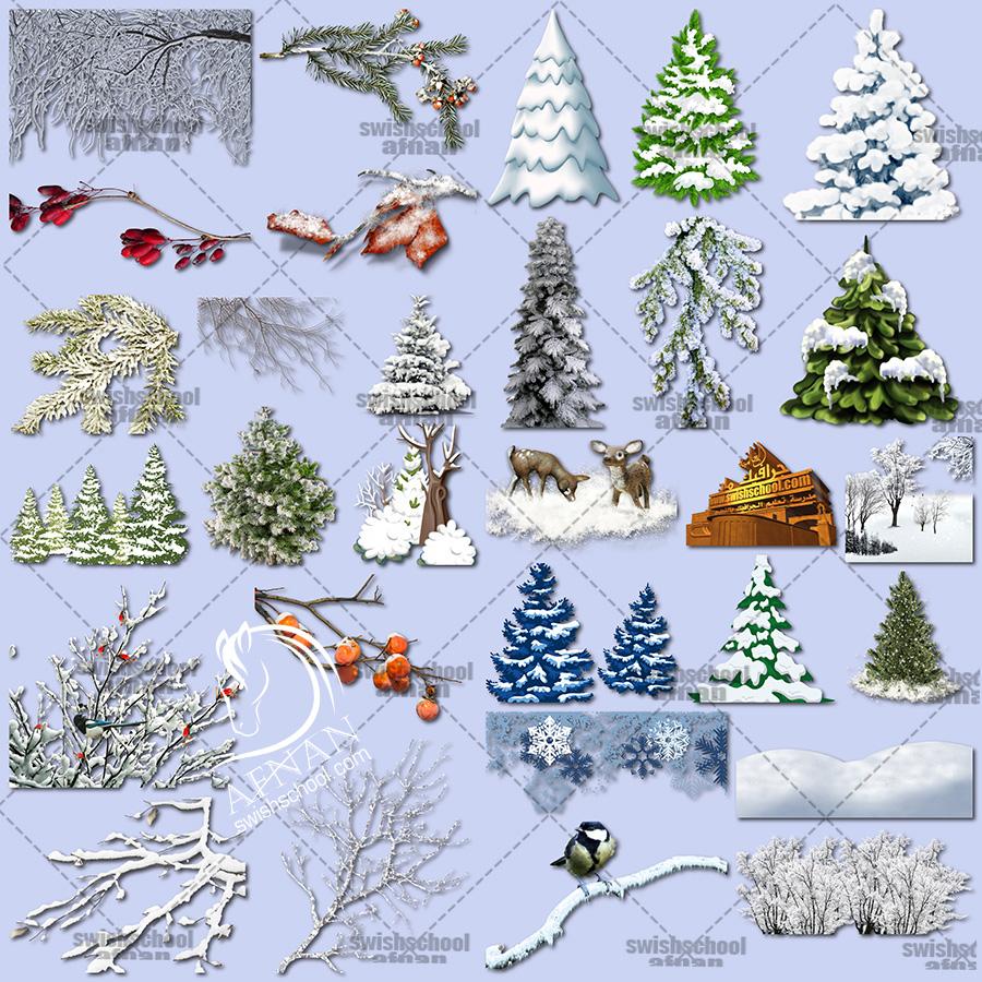 سكرابز الشتاء لتصاميم العام الجديد عالي الجوده png