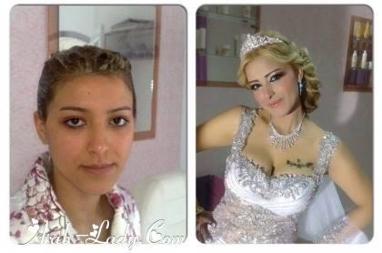 صور العروسه المصريه قبل المكياج وبعده ^_^