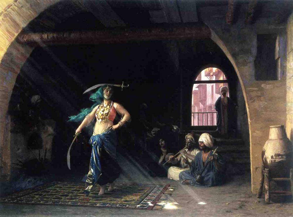 رقصة السيف في مقهى صور جواري arab slave سوق الجواري
