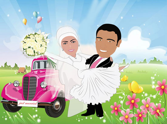 wedding cartoon poster 18 صوره فرح كارتون wedding cartoon poster