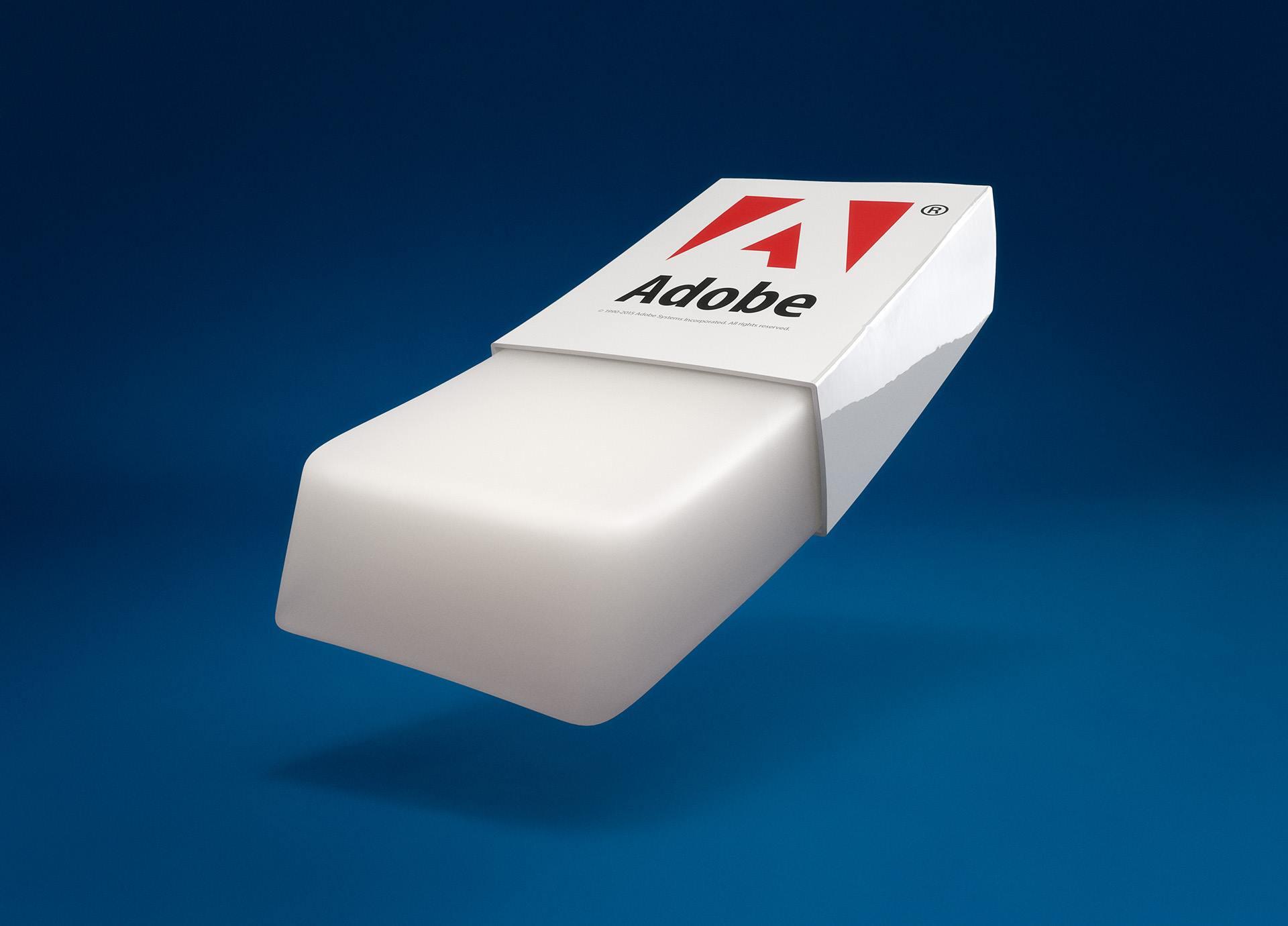 Eraser tool بالصور : تخيل شريط ادوات الفوتوشوب 3D