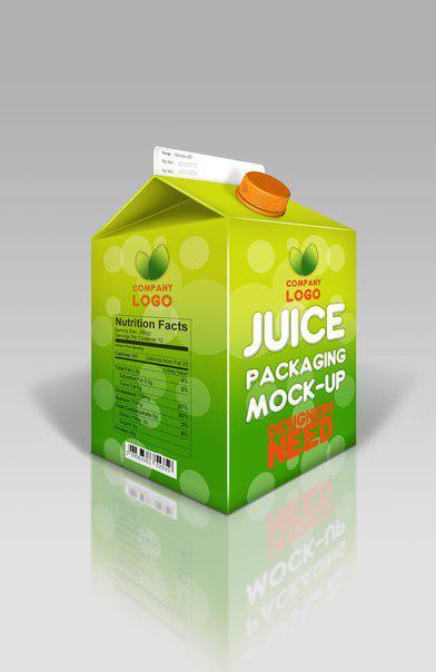 Juice Paper mockup www.swishschool 3 موك اب علبه عصير ورقيه بغطاء بلاستيك psd