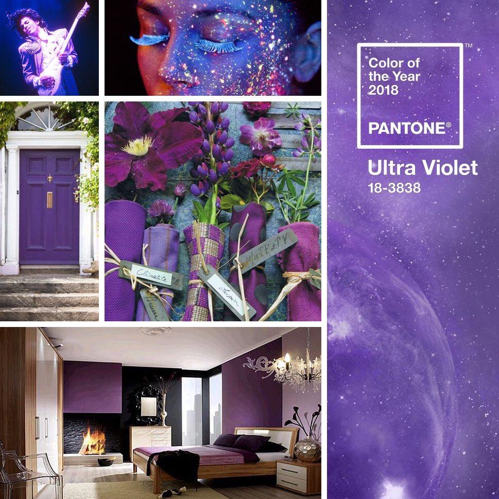 شركة Pantone 2018 1 اللون البنفسجي لون العام بحسب بانتون