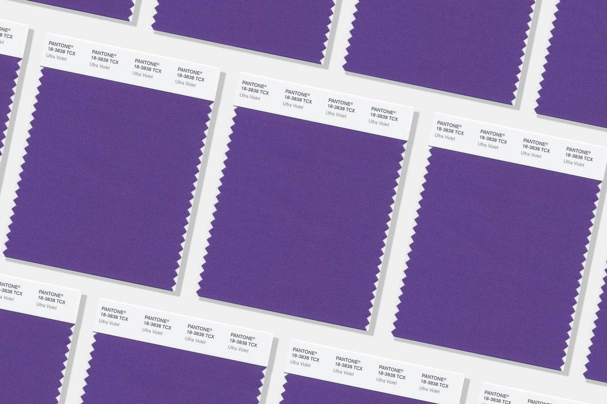 شركة Pantone 2018 3 اللون البنفسجي لون العام بحسب بانتون