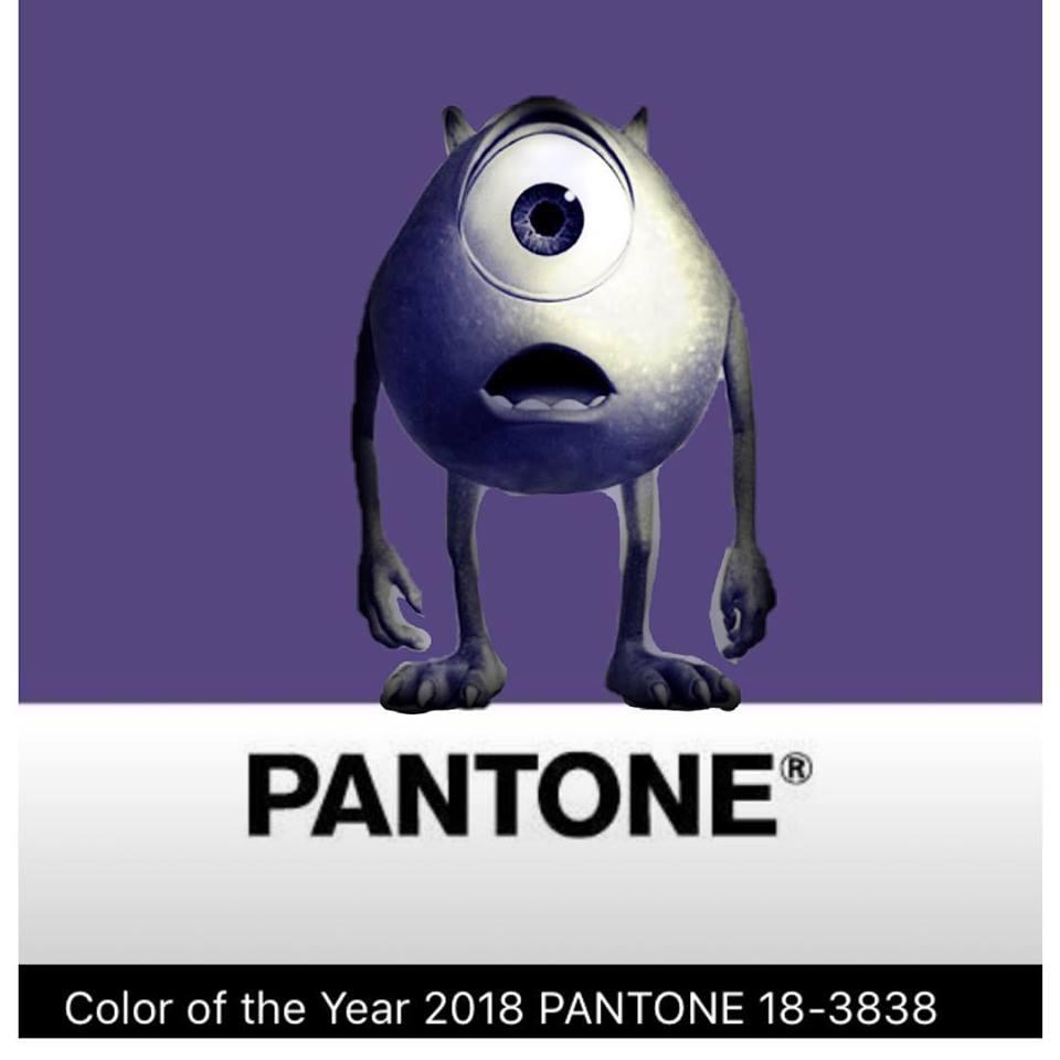 شركة Pantone 2018 4 اللون البنفسجي لون العام بحسب بانتون