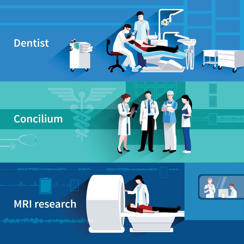 flat medical banners 6 كفرات فيس بوك و تويتر للاطباء